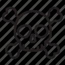 crossbones, danger, death, poison, skeleton, skull, toxic