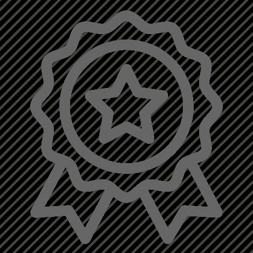 badge, champion, honor, star, winner icon