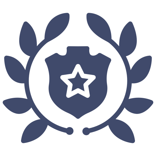 achievement, army, awards, badge, ground forces, police icon