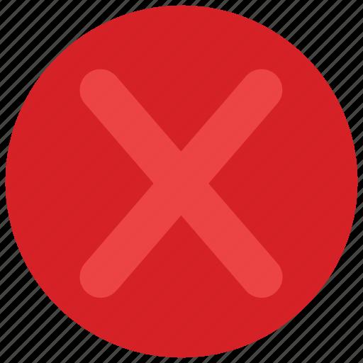 checkmark, decline, no, vote icon