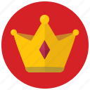award, crown, reward, value icon