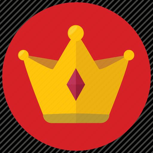 award, crown, reward, value icon