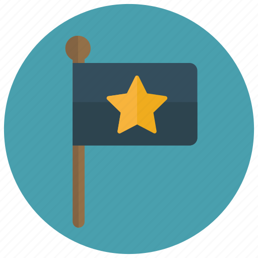 flag, rating, star, target icon