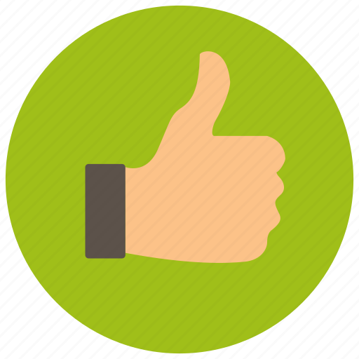 approve, for, like, thumbs up, vote icon