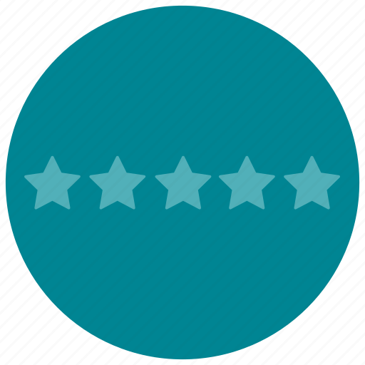 five, none, rating, star icon