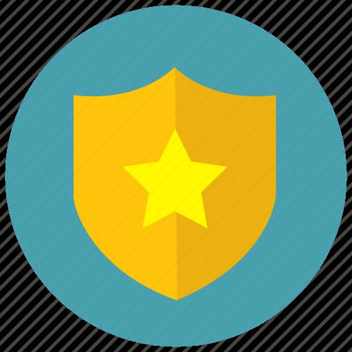 award, reward, shield, star icon