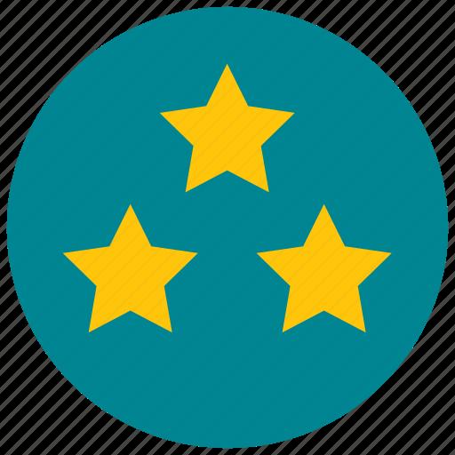 rating, stars, three, votes icon