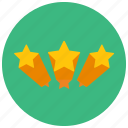 rating, stars, three, votes icon