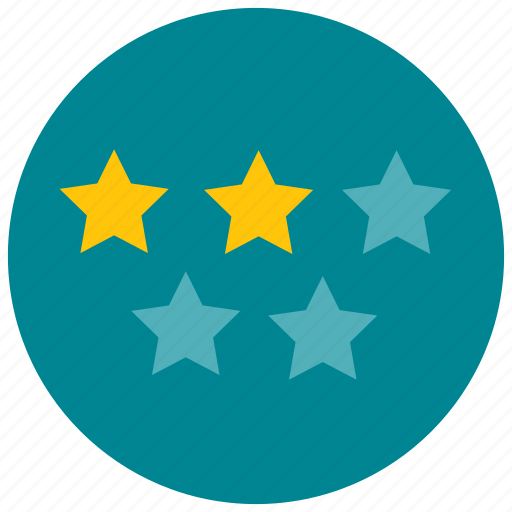 five, rating, star, two icon