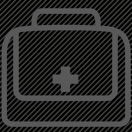 aid, bag, briefcase, first, health, medicine, suitcase i icon