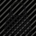 bag, handbag, line, luxury, outline, thin, woman icon