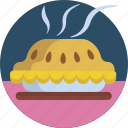 baked, bakery, delicious, hot, pie, sweet, tasty icon
