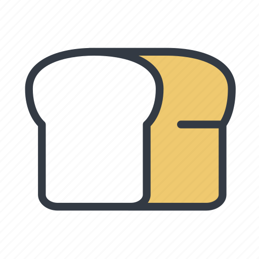 bakery, bread, bread loaf, white bread icon