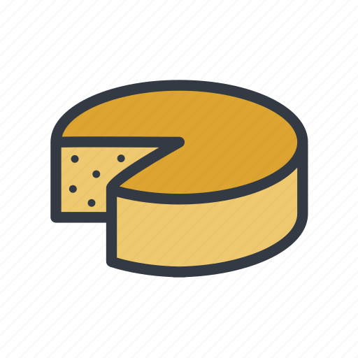 cheese, cheese wheel, cheesecake, dessert icon