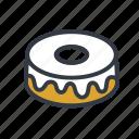cake, chiffon, dessert, sponge cake icon
