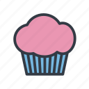 cupcake, dessert, fairy cake, muffin icon