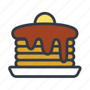 american breakfast, breakfast, hot cakes, pancakes icon