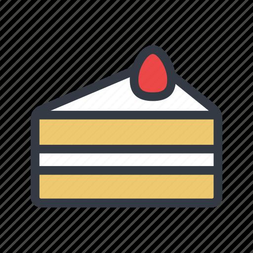 cake, dessert, strawberry shortcake icon