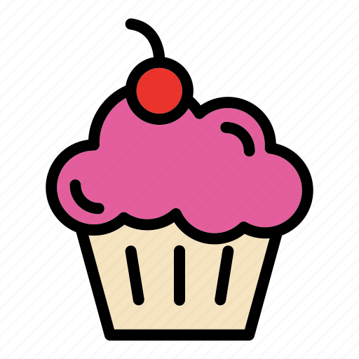 bakery, bread, cake, cupcake, food, pastry icon