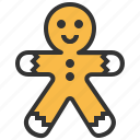 bakery, food, gingerbread, sweet icon