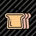 bakery, bread, breakfast, dinner, toast icon