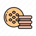 bakery, cakes, cookies, macarons, sweets icon