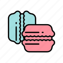 bakery, cakes, cookies, french coockies, macarons icon