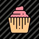 baker, bakery, cupcake, restaurant, sweets icon
