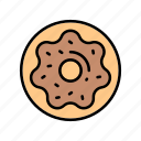 bakery, chocolate, donut, icon, sweets icon