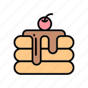 bakery, bakery products, cherry cake, cookie, petit four icon