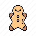 bakery, bakery products, baking, cakes, cookie, gingerbread, sweets icon