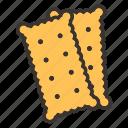 bakery, cracker icon