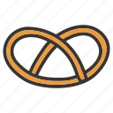 bakery, food, pretzel icon