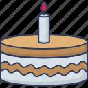 bakery, dessert, food, celebration, birthday, cake, candles