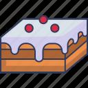 bakery, dessert, food, sweet, cake, pastry, slice