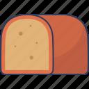 bread, bakery, food, loaf, slice, breakfast