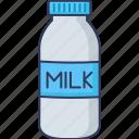 breakfast, bottle, food, drink, milk, healthy, bakery