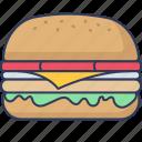 burger, sandwich, restaurant, cheese, tasty, fast, food