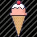 ice, cream, sweet, food, dessert, bowl, frozen