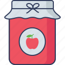 jam, breakfast, strawberry, food, sweets, container, bakery