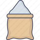 sack, grain, wheat, bag, food, kitchen, cooking