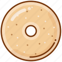 bagel, bread, food icon