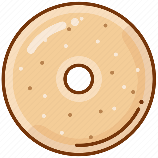 bagel, bread, food icon