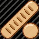 baguette, baking, bread icon