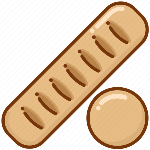 baguette, baking, bread icon