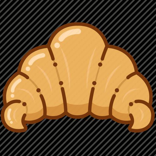 baking, bread, croissant icon