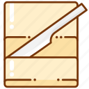 butter, cheese, food icon