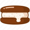 chocolate, cookie, sweet icon