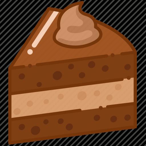 brownie, cake, dessert icon