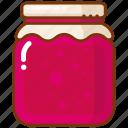 berries, jam, jar icon